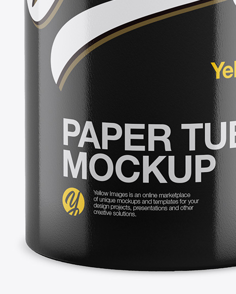 Glossy Tube Mockup - Front View