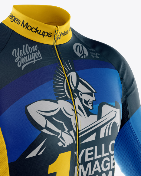 Download Mens Jersey With Long Sleeve Mockup Yellow Images