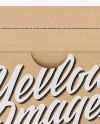 Kraft Box Mockup - Front View (High-Angle Shot)