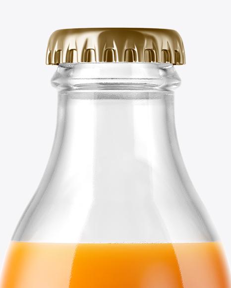 180ml Carrot Juice Bottle Mockup