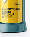 Round Glossy Street Advertising Column Mockup