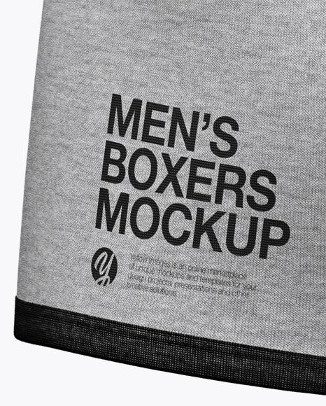 Melange Men's Boxer Briefs Mockup - Back Half Side View