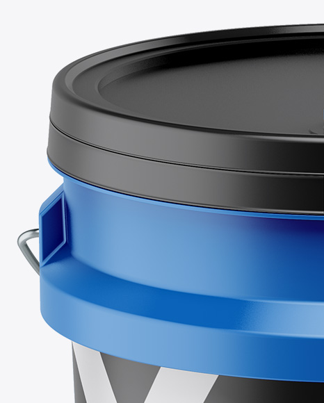 5L Matte Paint Bucket Mockup - Front View (High-Angle Shot)