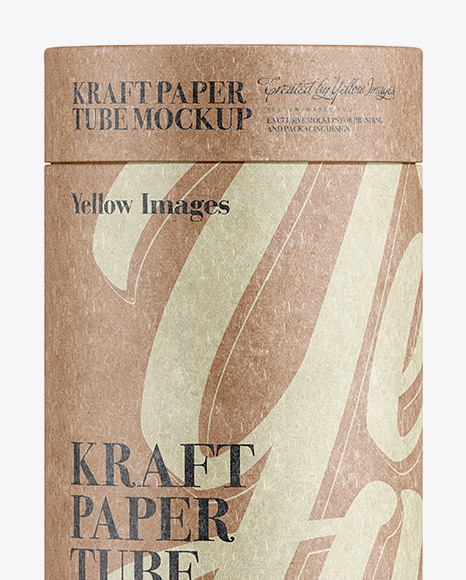 Download Middle Kraft Paper Tube Mockup - Front View in Tube ...
