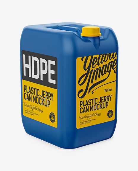 20L Plastic Jerryсan Mockup - Halfside View