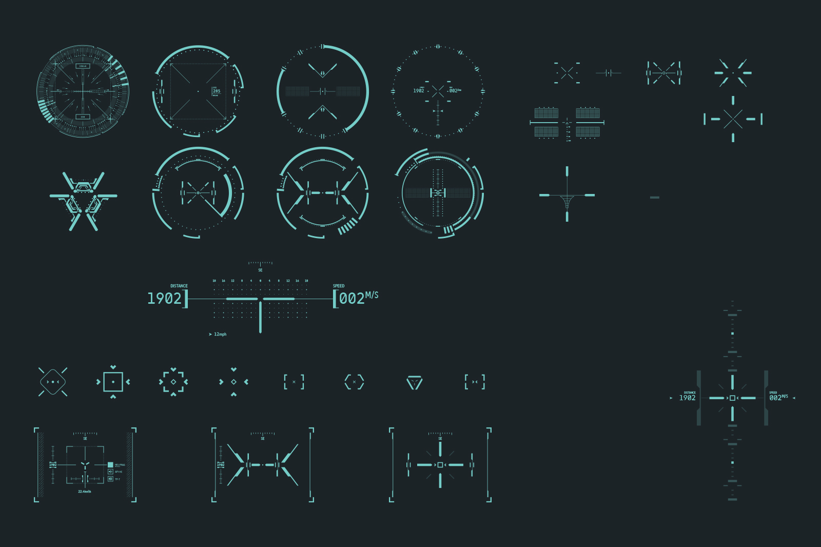 AIMICA: HUD Sight vector pack