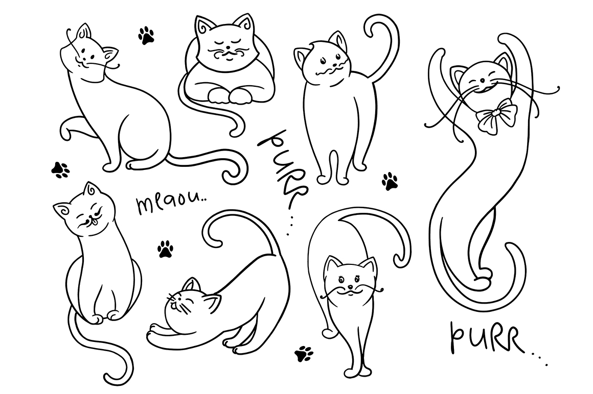 Cats clipart collection
