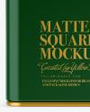 Matte Square Tin Box Mockup