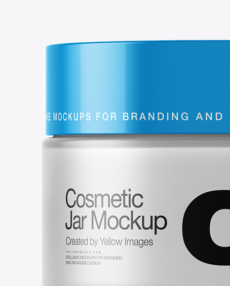 50ml Cosmetic Jar Mockup In Jar Mockups On Yellow Images Object