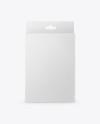 Glossy Box with Hang Tab Mockup - Front View