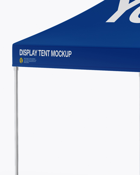 Display Tent W/ One Wall Mockup - Half Side View