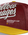 Snapback Cap Mockup - Half Side View