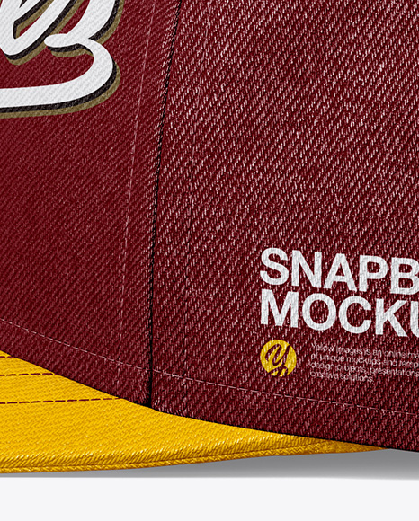 Download Snapback Cap Mockup Back View Yellowimages