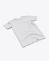 Men's Classic Regular T-Shirt - Half Side View (High Angle Shot)