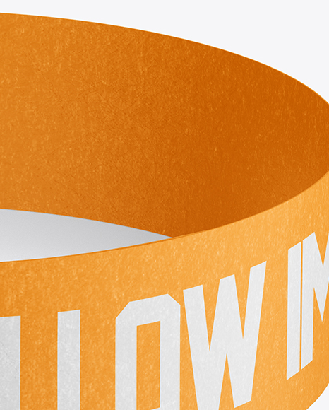 Download Paper Wristband Mockup Front View High Angle Shot In Object Mockups On Yellow Images Object Mockups