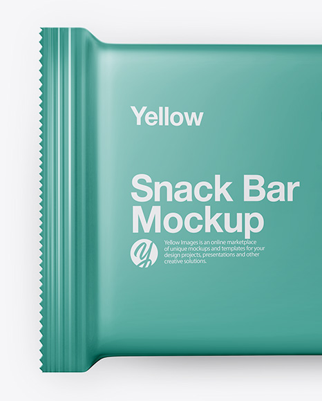Matte Snack Bar Mockup - Top View