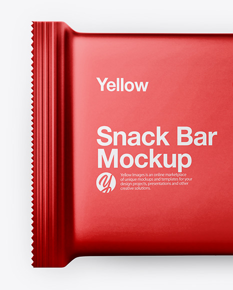 Metallic Snack Bar Mockup - Top View