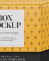 Glossy Box Mockup - Front View (High-Angle Shot)