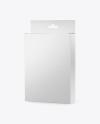 Glossy Box with Hang Tab Mockup - Half Side View