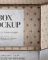 Metallic Box Mockup - Front View (High-Angle Shot)