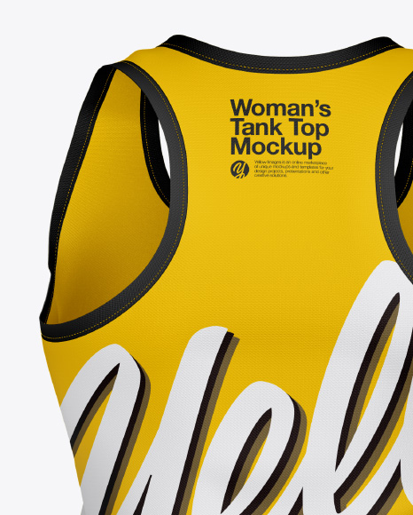 Woman's Tank Top Mockup - Back View