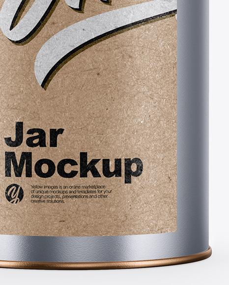 Metallic Jar Mockup - Front View