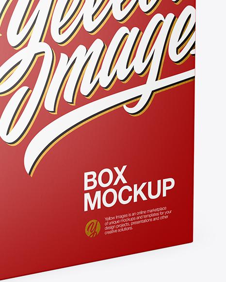 Matte Box with Hang Tab Mockup - Half Side View (High-Angle Shot)