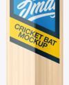 Cricket Bat Mockup - Front, Side & Back Views