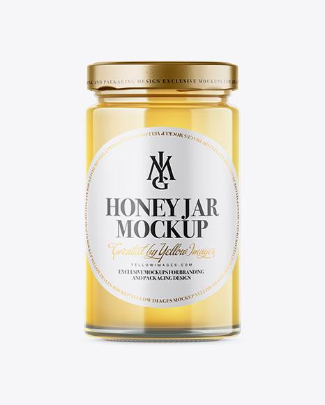 Raw Honey Jar Mockup