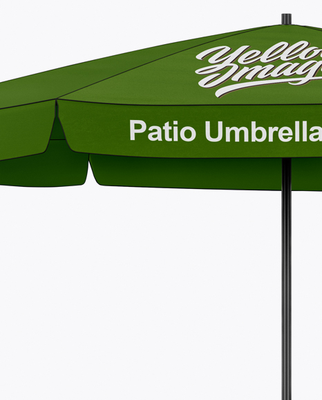 Matte  Patio Umbrella Mockup - Front View