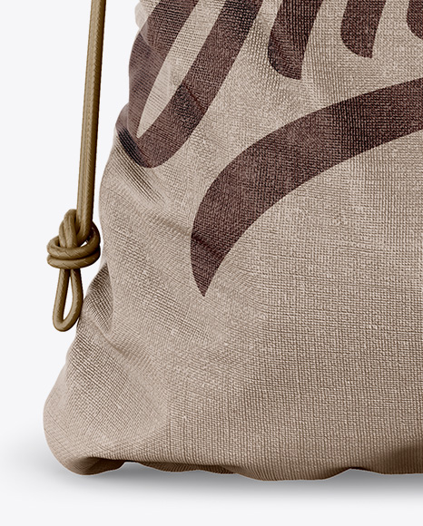 Textured Gym Sack Mockup - Front View