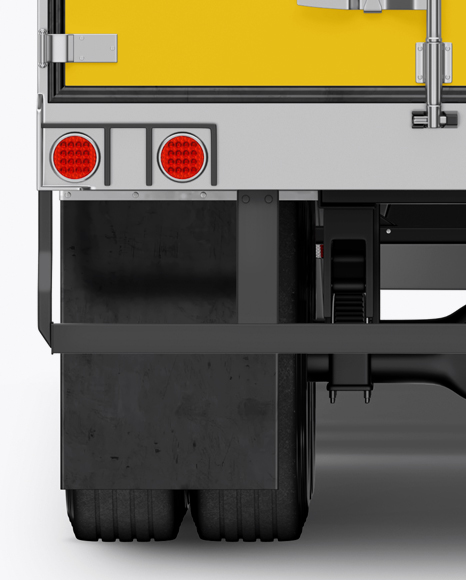 Electric Semi-Trailer Mockup - Back View