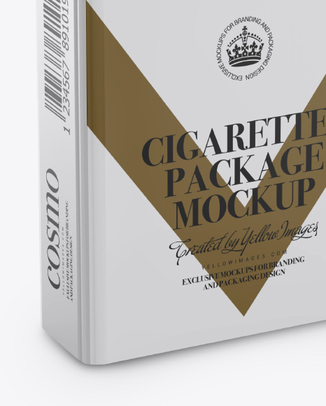 Cigarettes Package Mockup - Half Side View