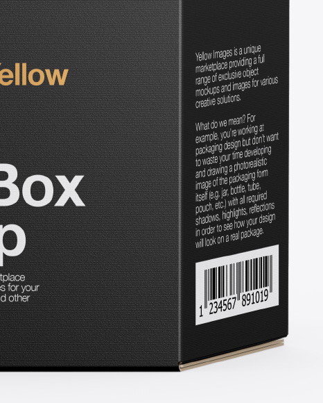 Box Mockup - Front View