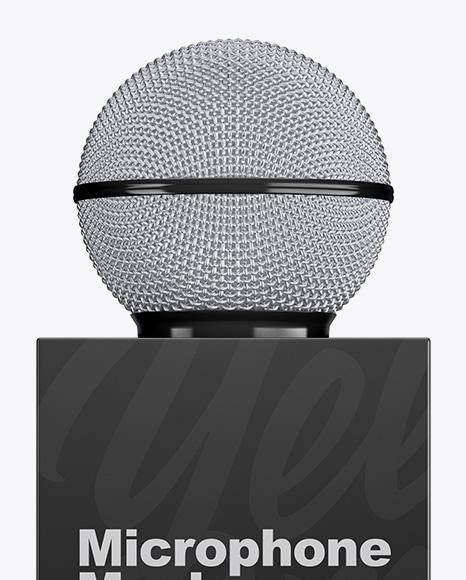 Glossy Microphone Mockup