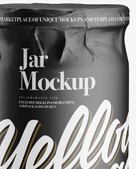 Jar in Matte Paper Wrap Mockup