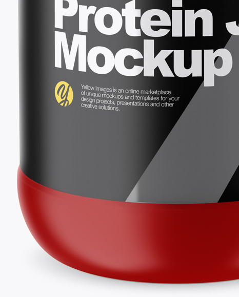 Matte Protein Jar Mockup (High-Angle Shot)