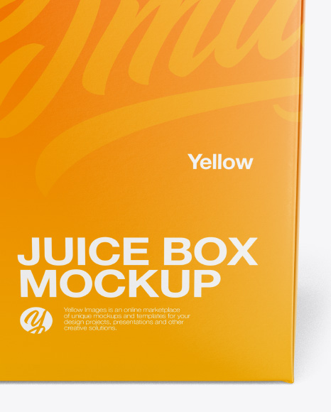 Download Juice Box Mockup Front View High Angle Shot In Packaging Mockups On Yellow Images Object Mockups PSD Mockup Templates