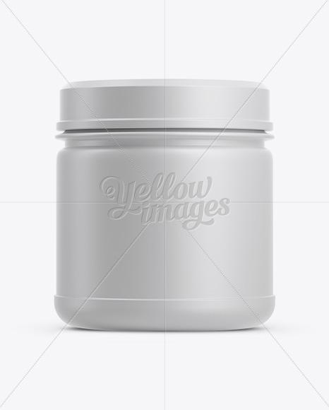 Matte Plastic Jar W/ Screw Cap Mockup