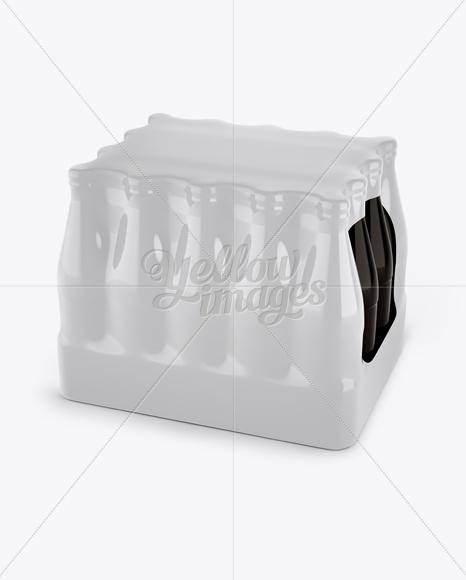 Download 4 Kraft Pack Soda Bottle Mockup Halfside View High Angle PSD - Free PSD Mockup Templates