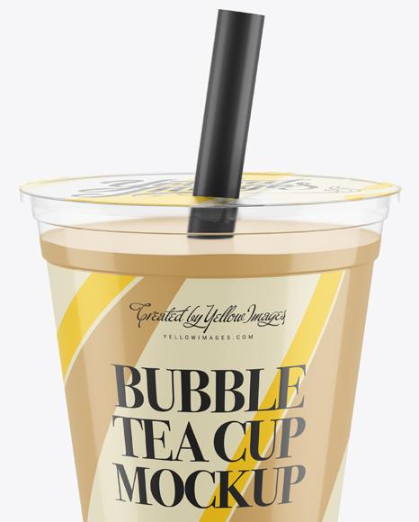 Bubble Tea Cup Mockup