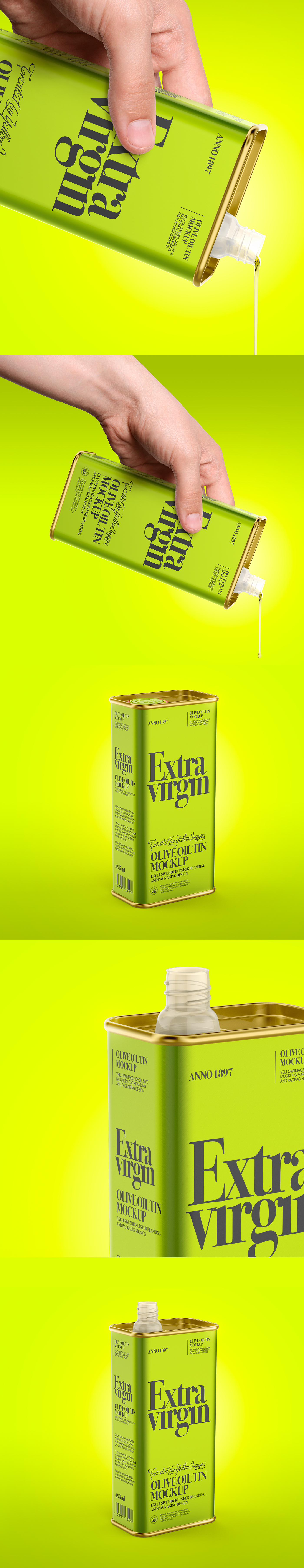 Download Olive Oil Tin Can Mockup In Packaging Mockups On Yellow Images Creative Store PSD Mockup Templates
