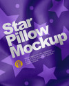 Star Pillow Mockup - Top View
