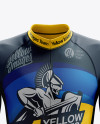 Men's Cycling Skinsuit LS mockup (Front View)