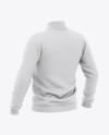 Men's Varsity Jacket Mockup - Back Half-Side View - Baseball Bomber Jacket