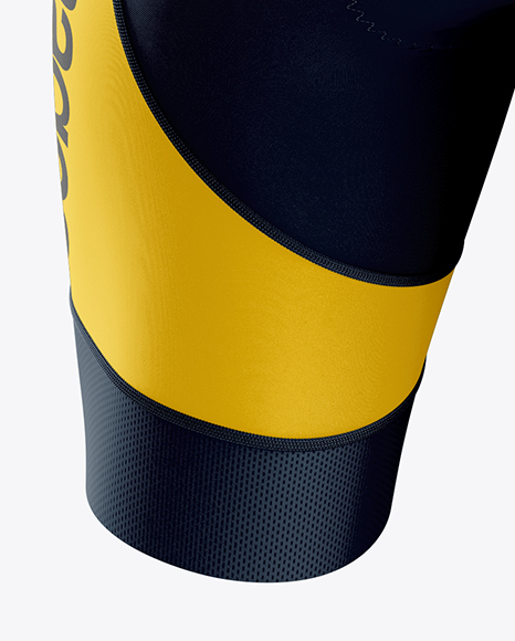 Men's Cycling Skinsuit LS mockup (Back View)