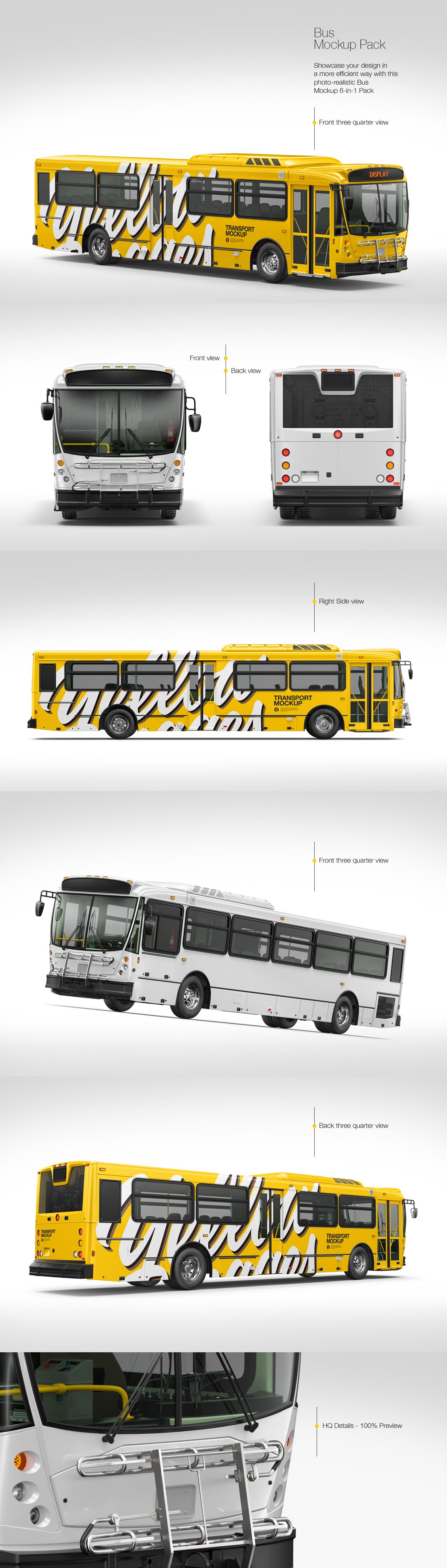Bus Mockup Pack