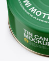 Tin Can Mockup - Front View (High-Angle Shot)