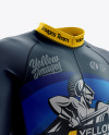 Men's Cycling Skinsuit LS mockup (Right Half Side View)