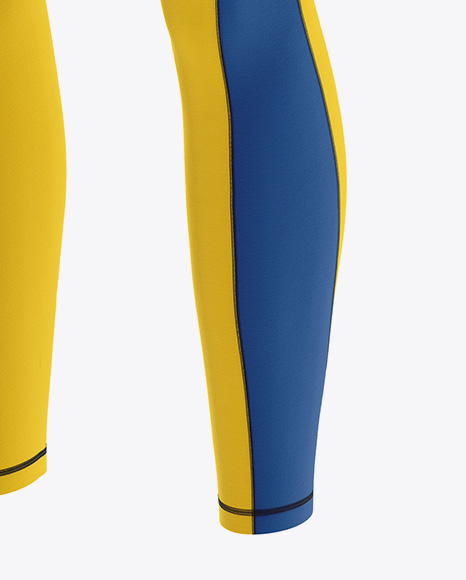 Women's Leggings Mockup - Front Half Side View